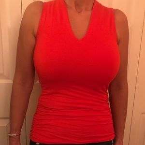 INC bright red tank top